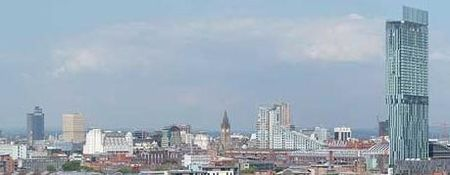 The skyline of Manchester